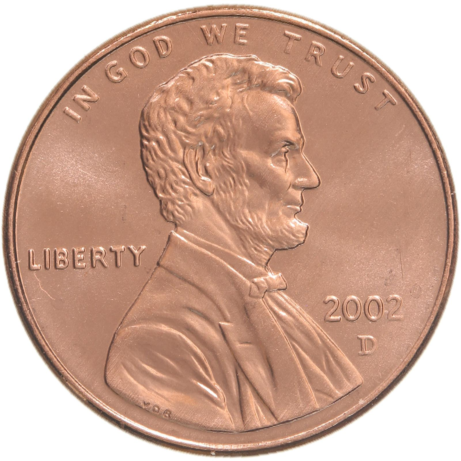 2002 D Lincoln Memorial Cent Gem BU Penny US Coin