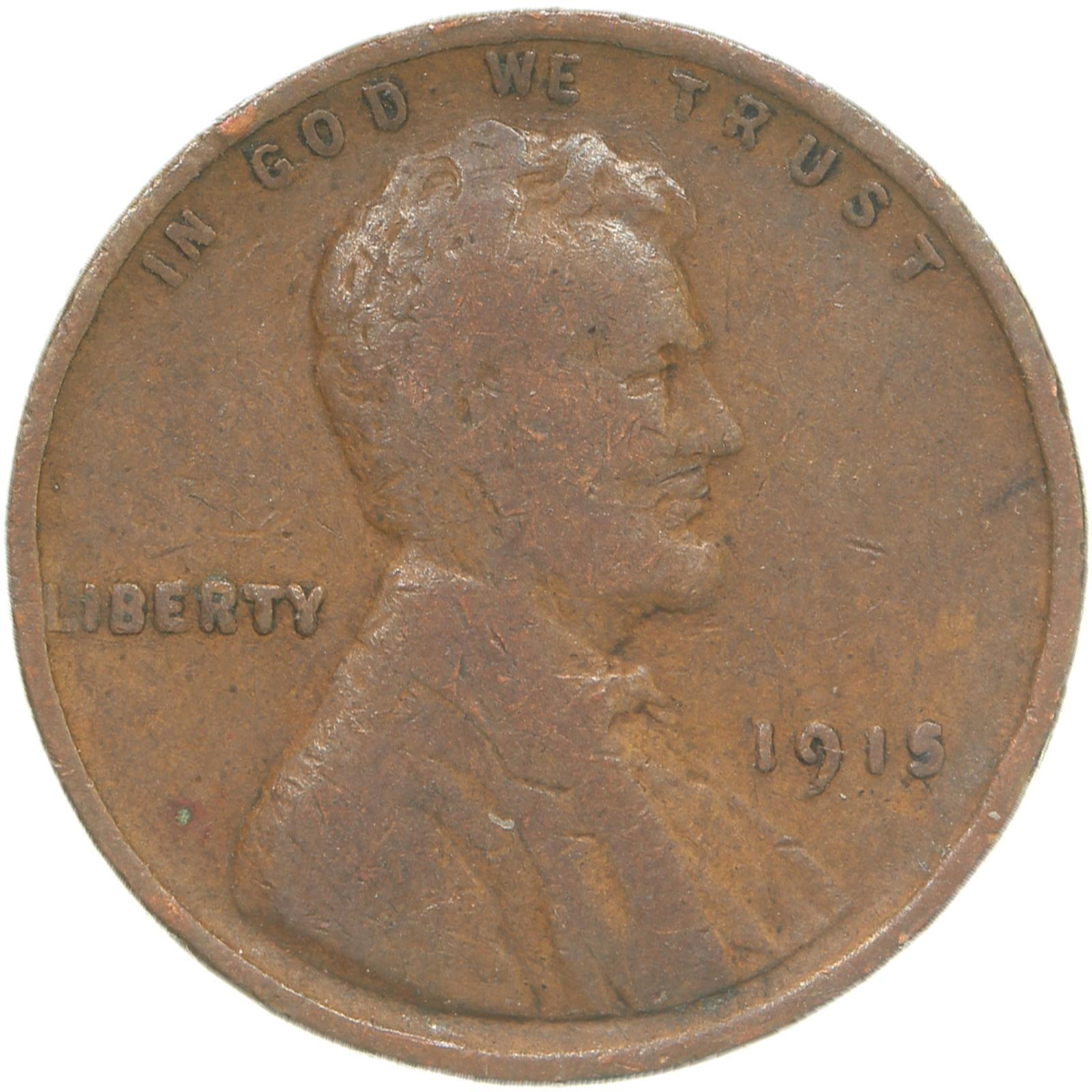 1915-Lincoln-Wheat-Cent-Very-Good-Penny-VG