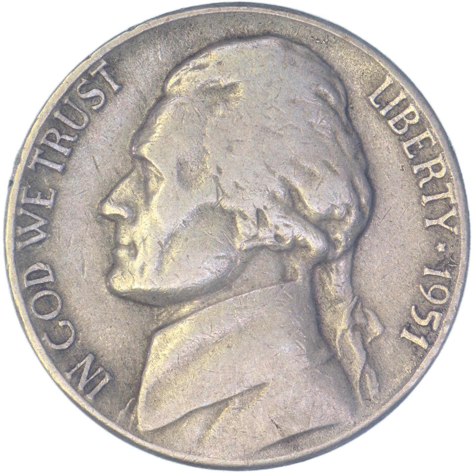 Satisfaction Guaranteed! 1951-D Circulated Jefferson Nickel No Shipping