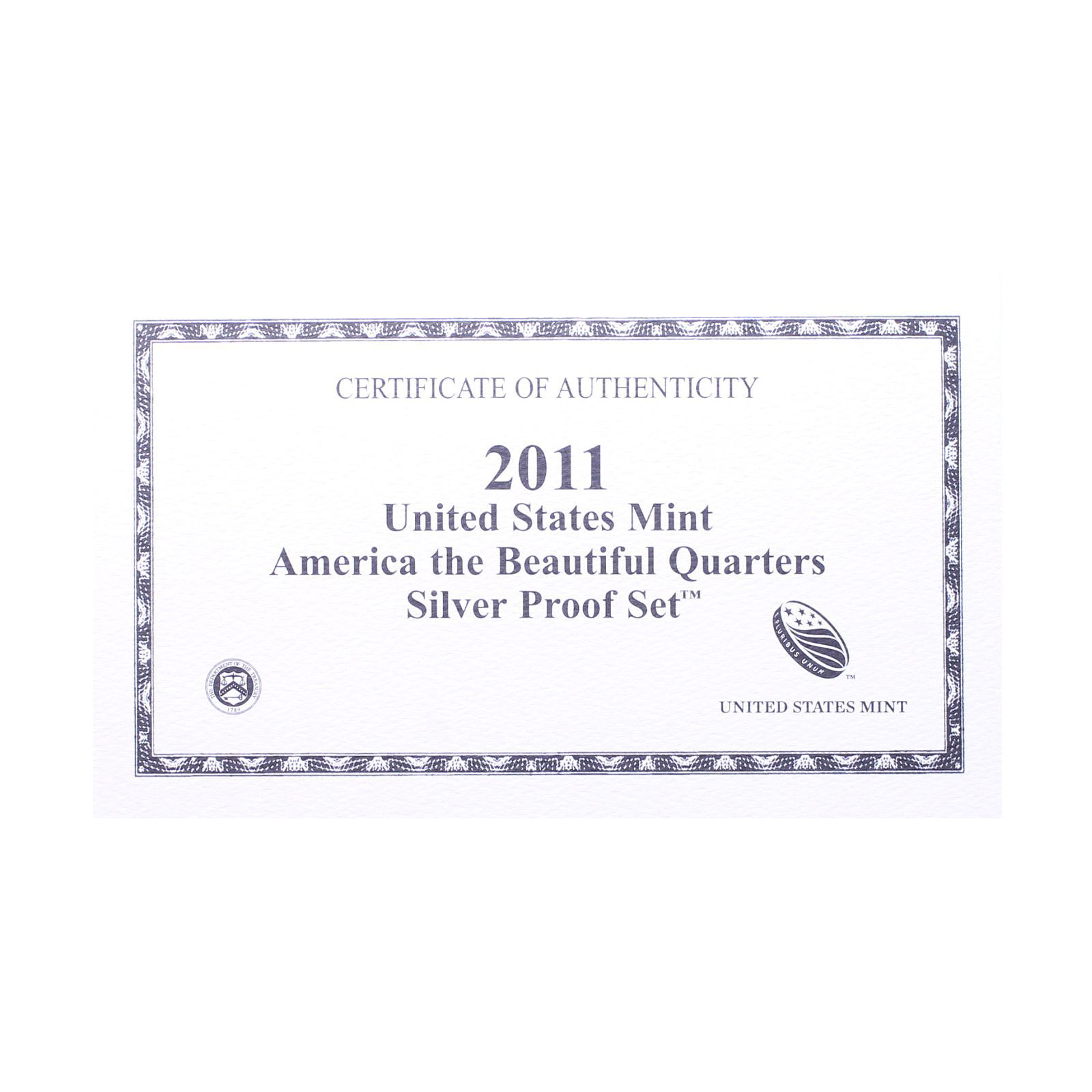 Empty-Packaging-Replacement-Silver-Proof-Quarter-Set-Box-amp-COA-No-Coins-2011 thumbnail 3