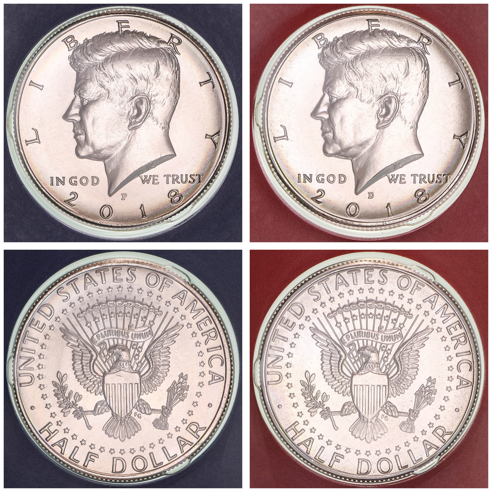 2001  P D Kennedy Half Dollars BU in US Mint Cello 2 Coin Set