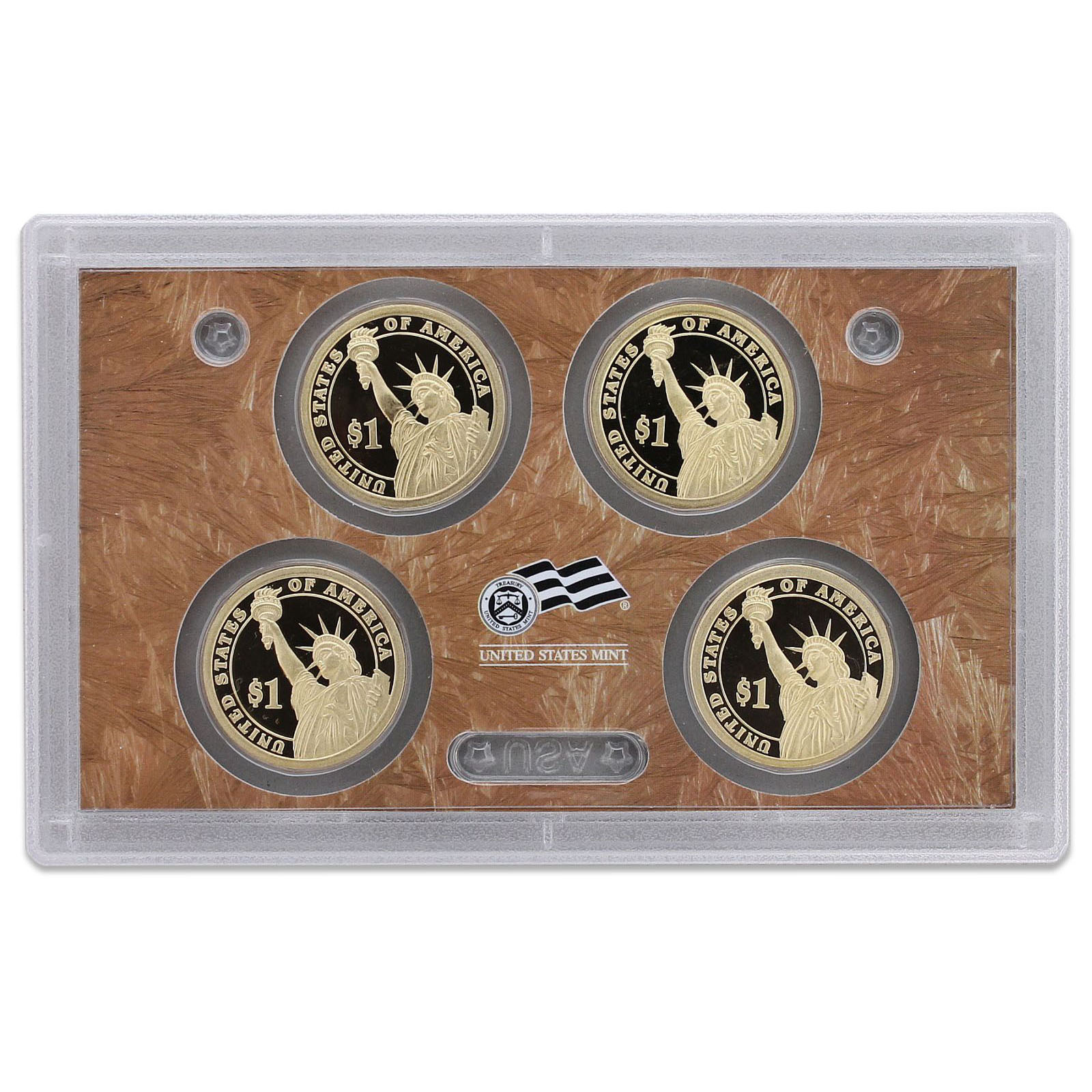 No Box or COA 2009 S Presidential Dollar Proof Set 4 Coins US Mint