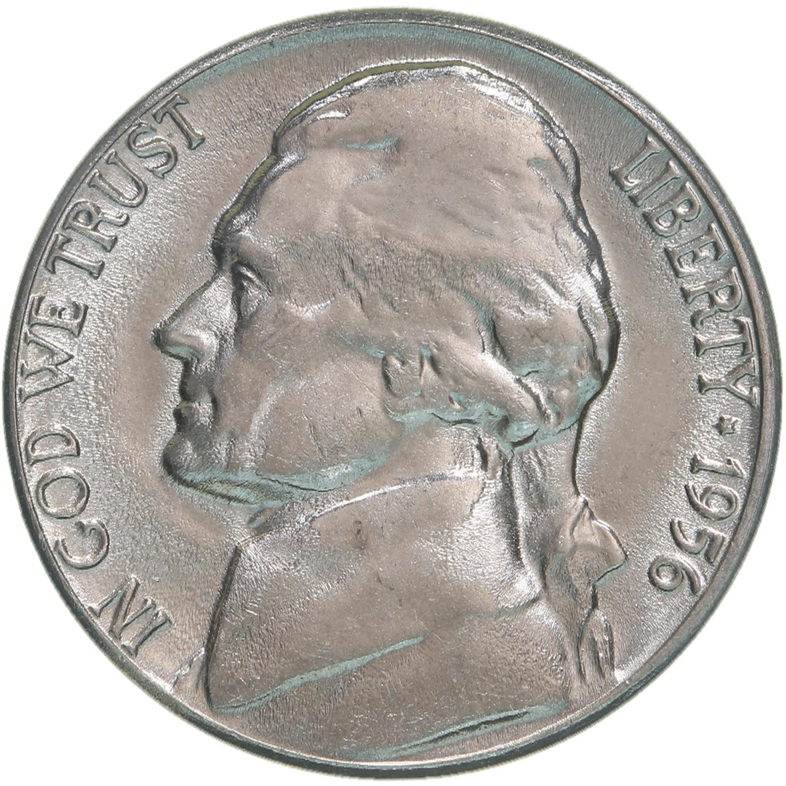 Image Is Loading 1956 D Jefferson Nickel Choice BU US Coin